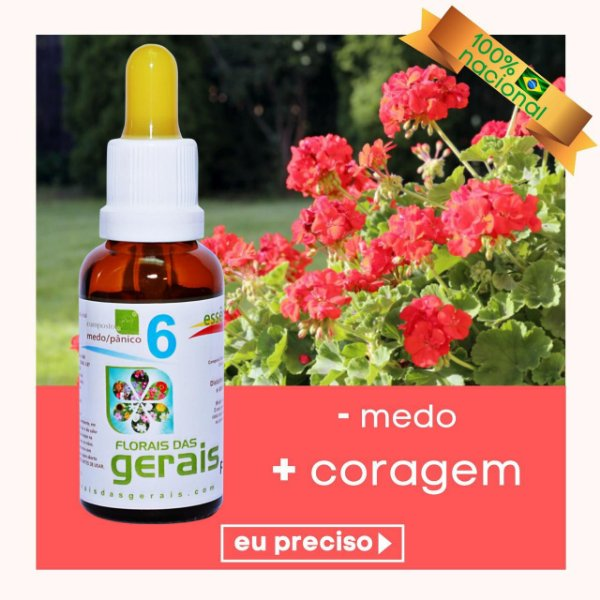 Composto Floral N° 6 Medo/Panico 30ml