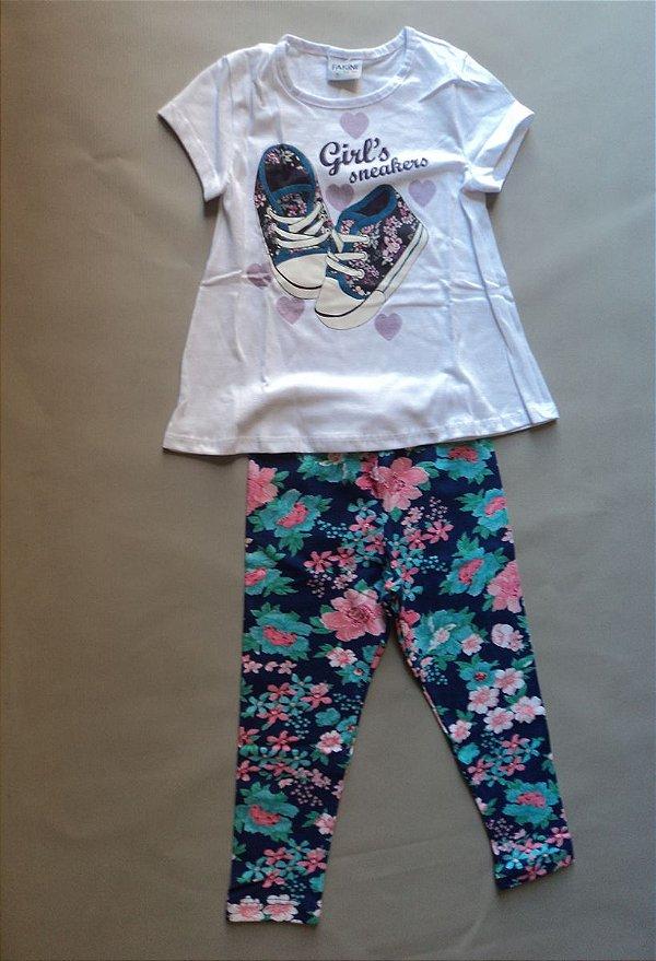 Conjunto infantil Blusa e Calça Legging Fakini