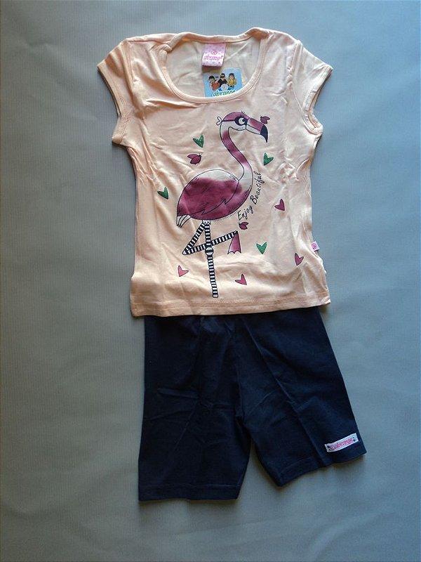 Conjunto Blusa e Short Infantil Abrange