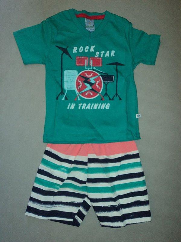 Conjunto Camiseta e Bermuda Listra Abrange