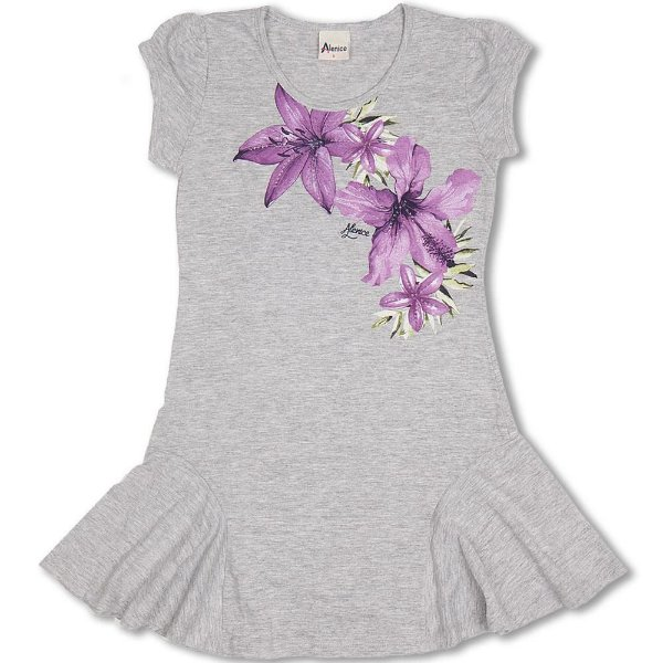 Vestido Infantil Mescla Alenice