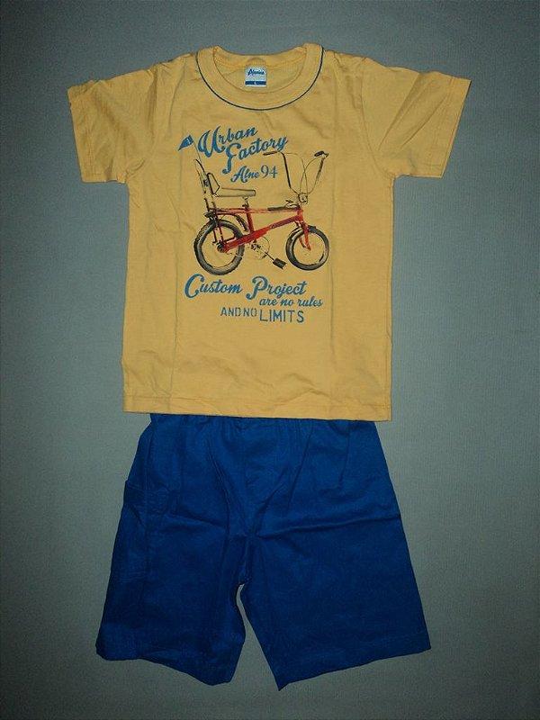 Conjunto Camiseta Diversão e Bermuda Alenice