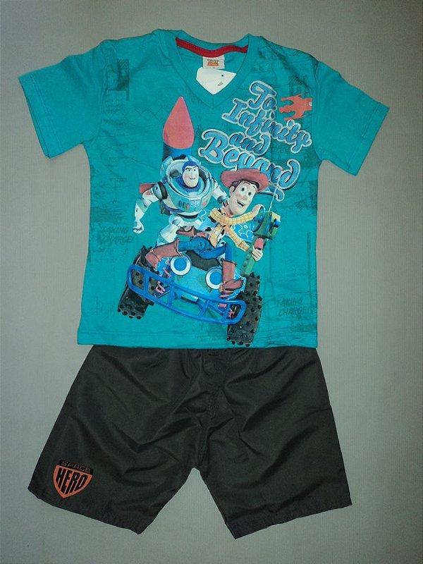 Conjunto Toy Story Camiseta e Bermuda