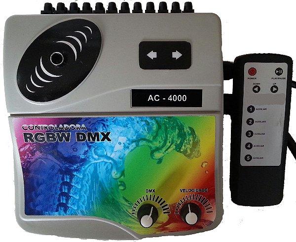 Central Controladora de Refletores Led RGBW para iluminação de piscinas AC 8000