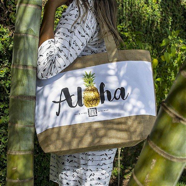 Bolsa Juta Natural Aloha Abacaxi