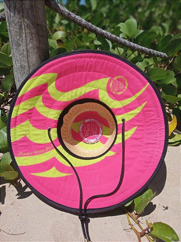 Chapéu de Palha - Neon Pink