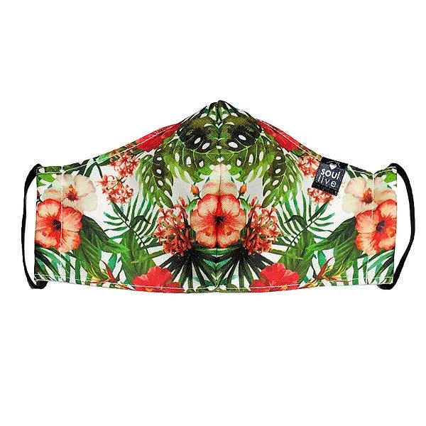 Máscara de Proteção - Floral Hibisco