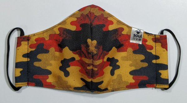 Máscara de Proteção - Camuflada Mostarda