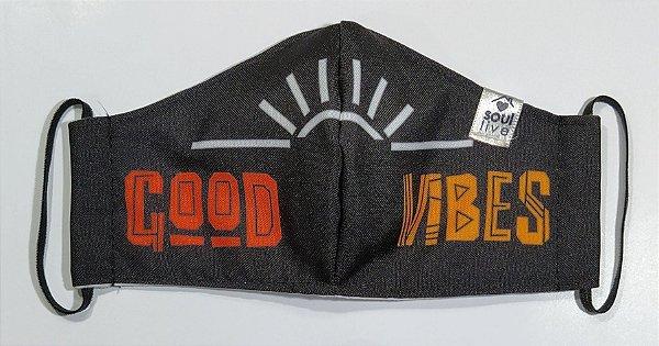 Máscara de Proteção - Good Vibes