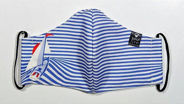 Máscara de Proteção - Barco a Vela Listrada