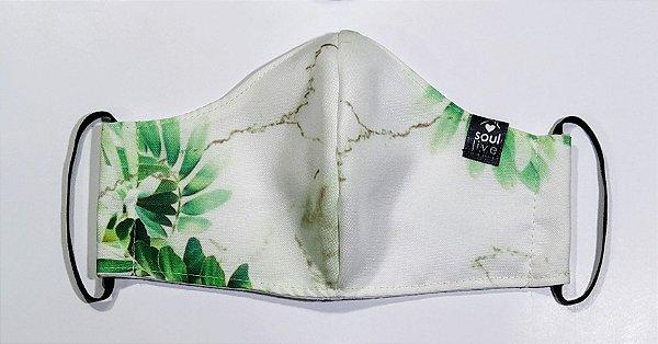 Máscara de Proteção - Mármore folhas