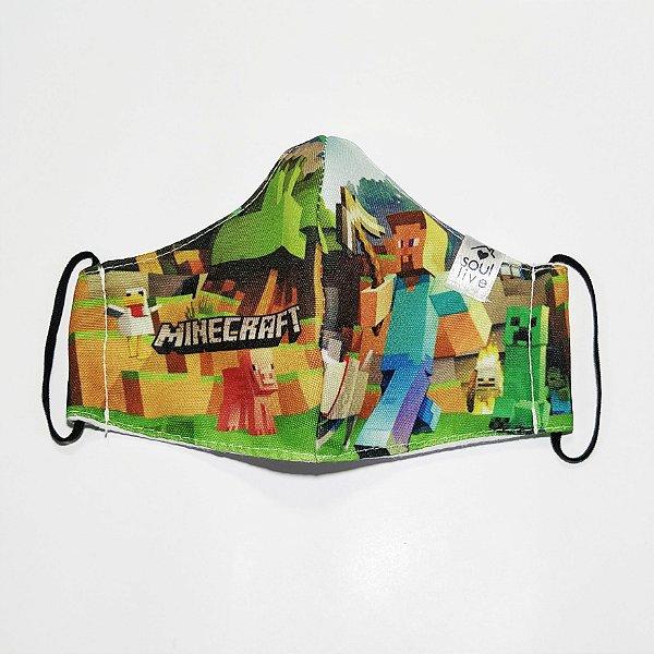 Máscara de Proteção Infantil - Minecraft