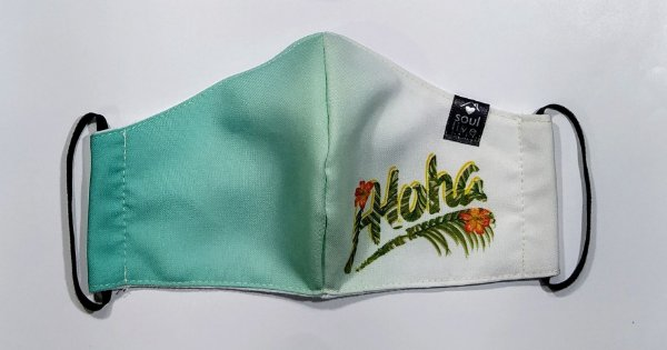 Máscara de Proteção - Aloha Folha Verde