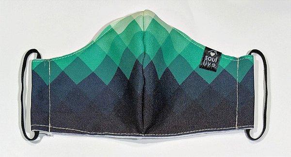 Máscara de Proteção - Mosaico Verde