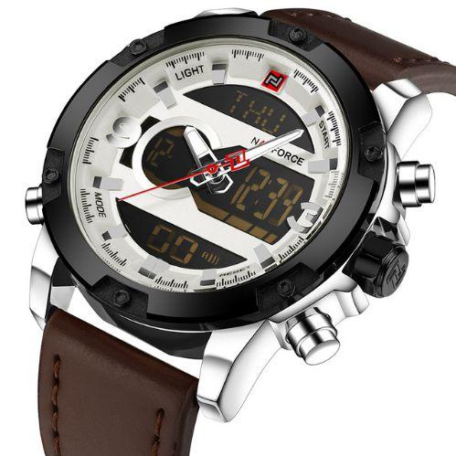 Relógio masculino analógico-digital
