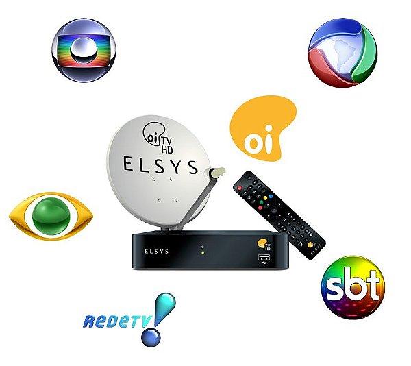 Kit Oi HDTV - Sem Mensalidade - Você mesmo Instala