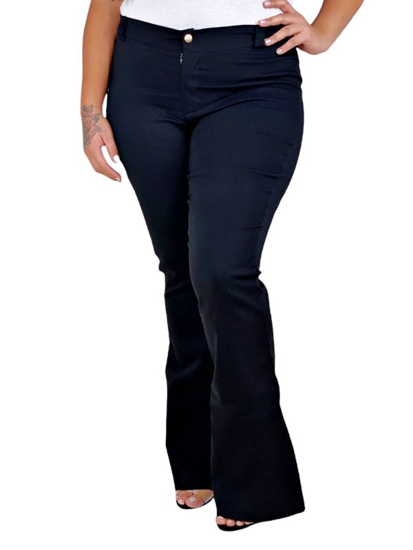 Calça Bengaline Flare Plus Size 6224