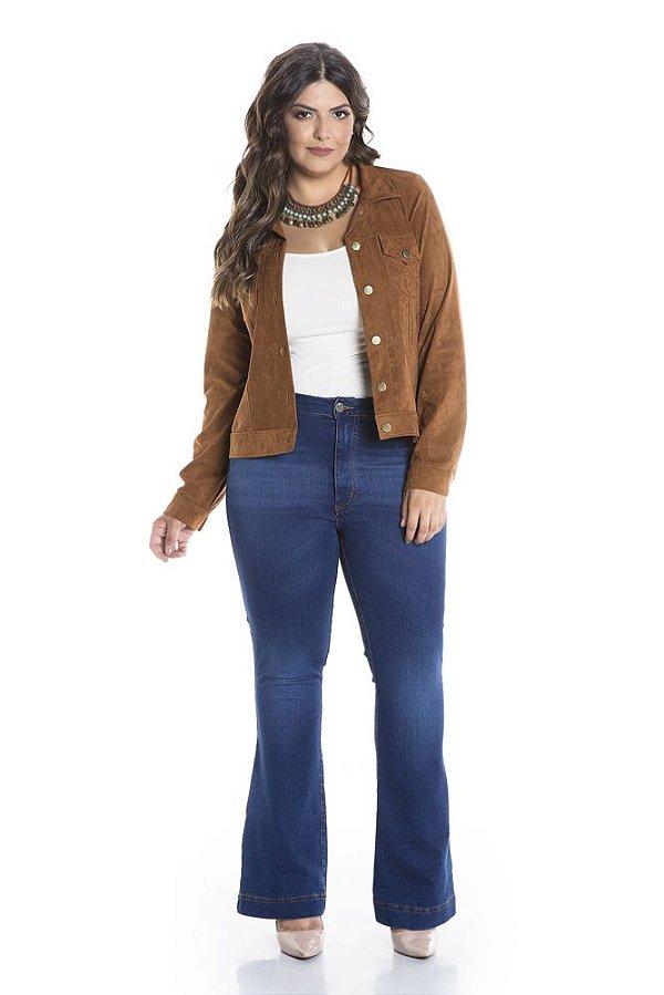 Calça Jeans Plus Size Flare Coz Alto