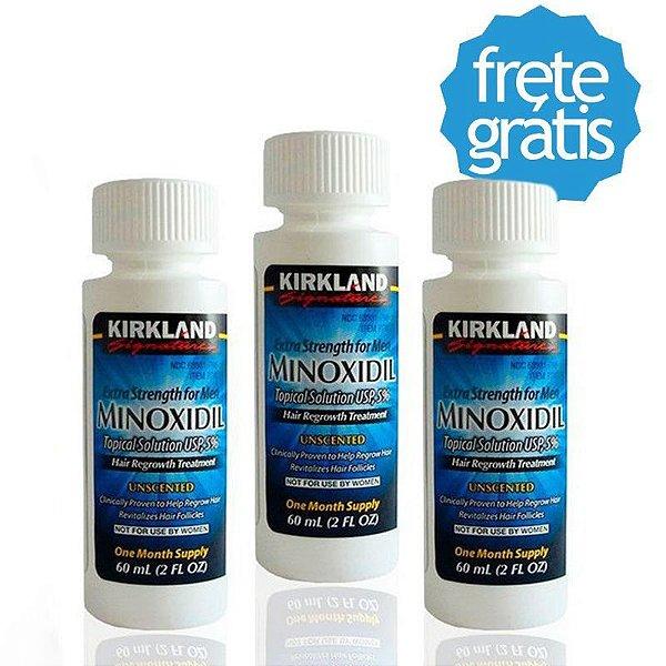 MINOXIDIL 5% KIRKLAND - TRATAMENTO PARA 3 MESES - PRONTA ENTREGA - FRETE GRATIS