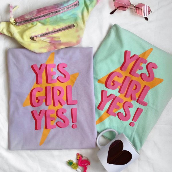 T-shirt Max YES GIRL YES