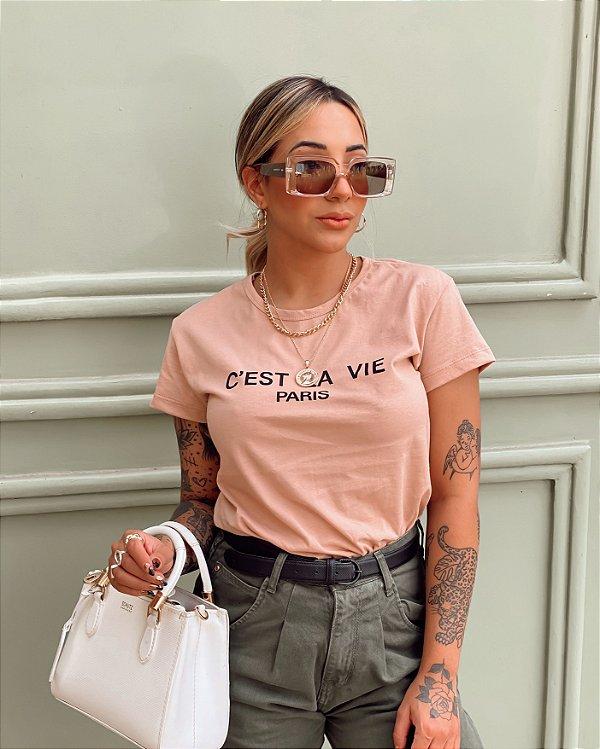 T-shirt C'est la vie paris
