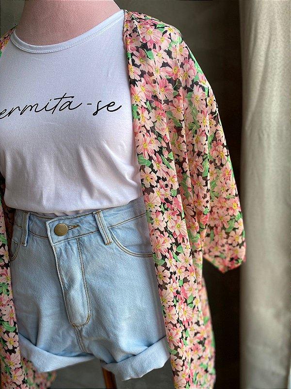 Kimono seda FLORECER