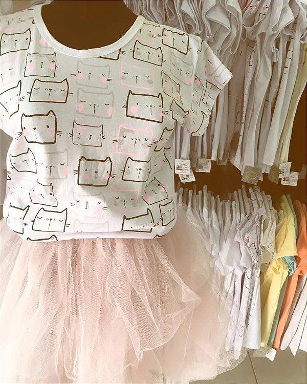 T-shirt mini gatinhos