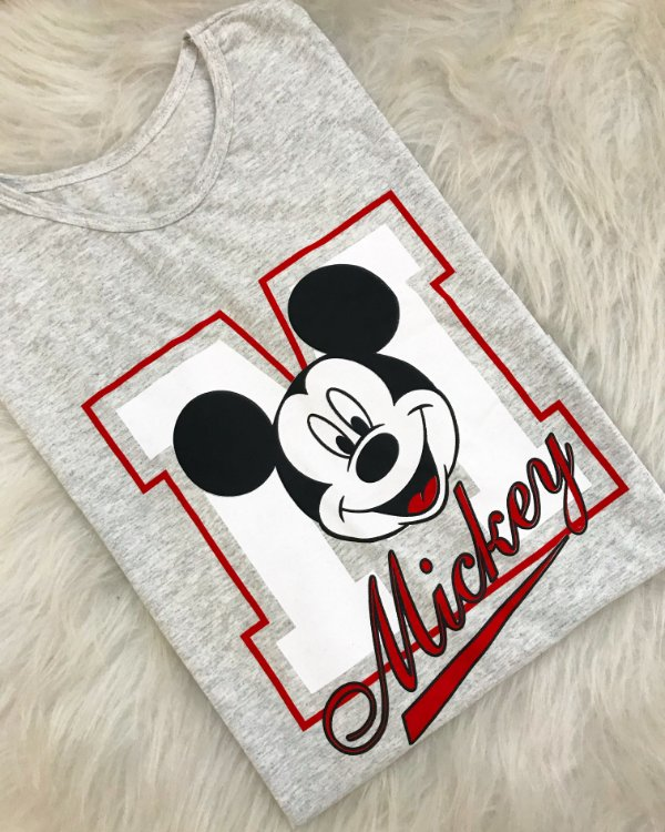 T-shirt mickey college