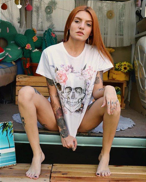 T-shirt Max flowers skull