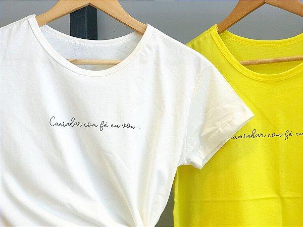 T-shirt Caminhar com fé eu vou  ...