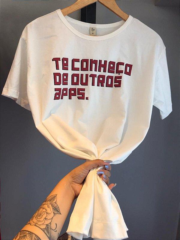 T-shirt MAX TE CONHEÇO DE OUTROS APPS