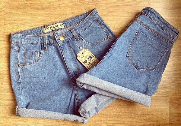 Short MOM jeans AZUL RETRÔ