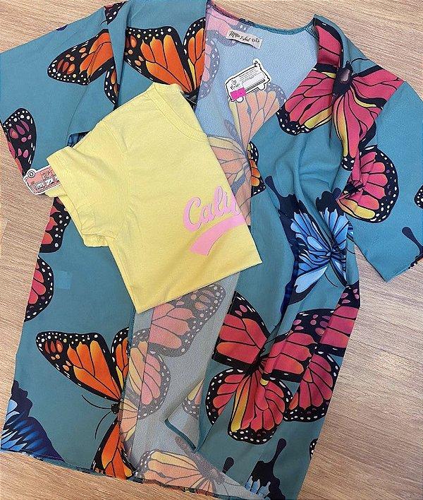 Kimono LOLLIPOP BORBOLETA VERDE