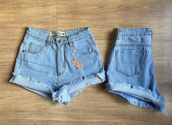 SHORT jeans MOM BARRA DESFIADA DELAVê
