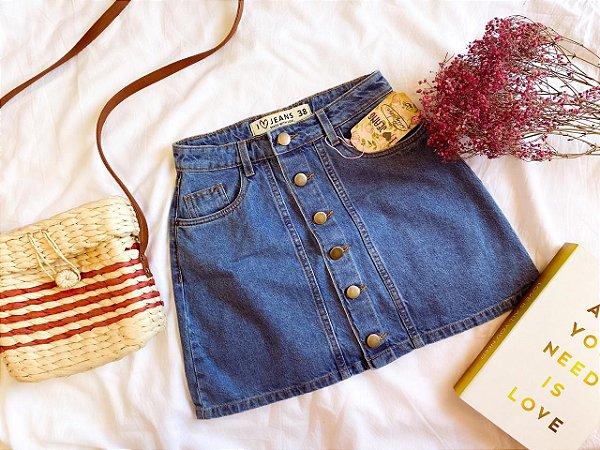 Saia jeans BOTÕES vintage
