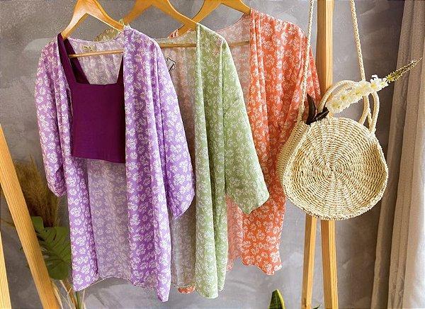 Kimono florido Bianca