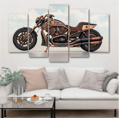 Moto - 5 Telas Canvas
