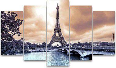Torre Eiffel- 5 Telas Canvas