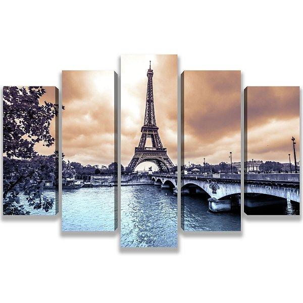 Fim de tarde em Paris - 5 Telas Canvas