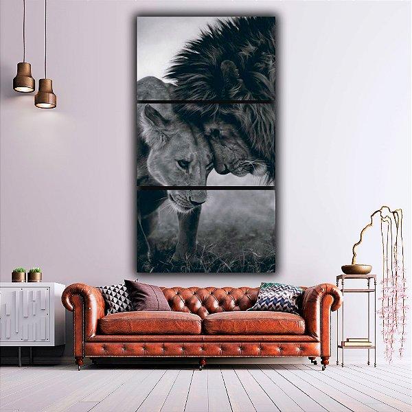 Leão/Leoa - 3 Canvas