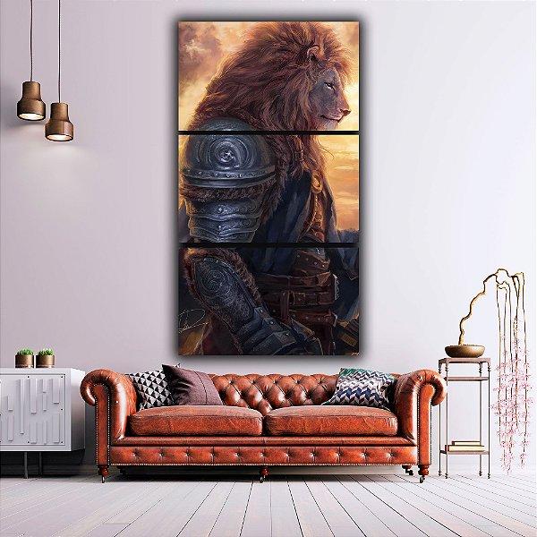 Brave lion - 3 Canvas