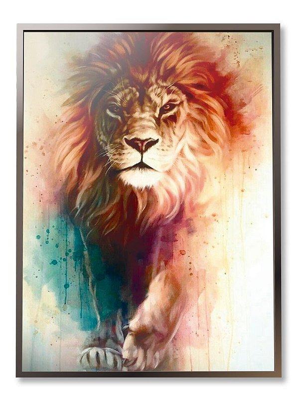 Quadro Leão de Judá Aquarela