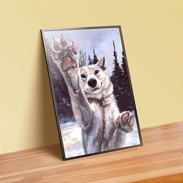 Cute wolf - Emoldurado