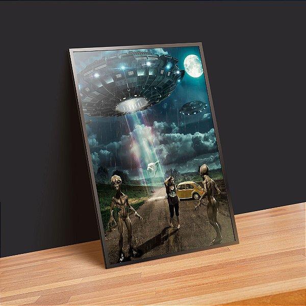 disco voador - Emoldurado