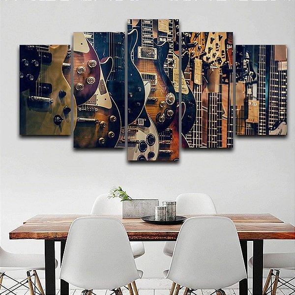 Guitarras  -  5 Telas Canvas
