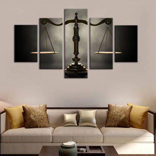 Balança do Direito  - Quadro Mosaico 5 telas em Canvas