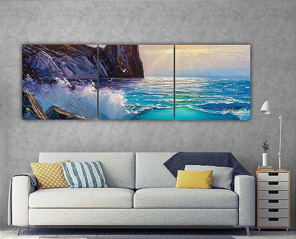 Abstrato - 3 telas Canvas