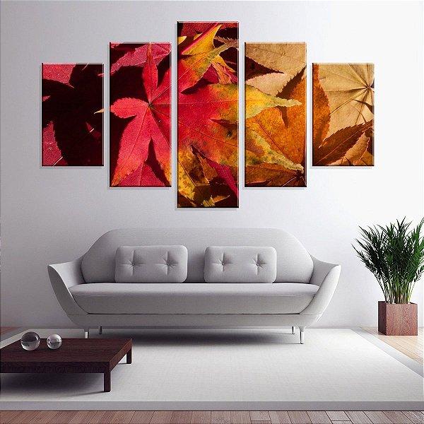 Outono - Quadro Mosaico 5 Telas em Canvas