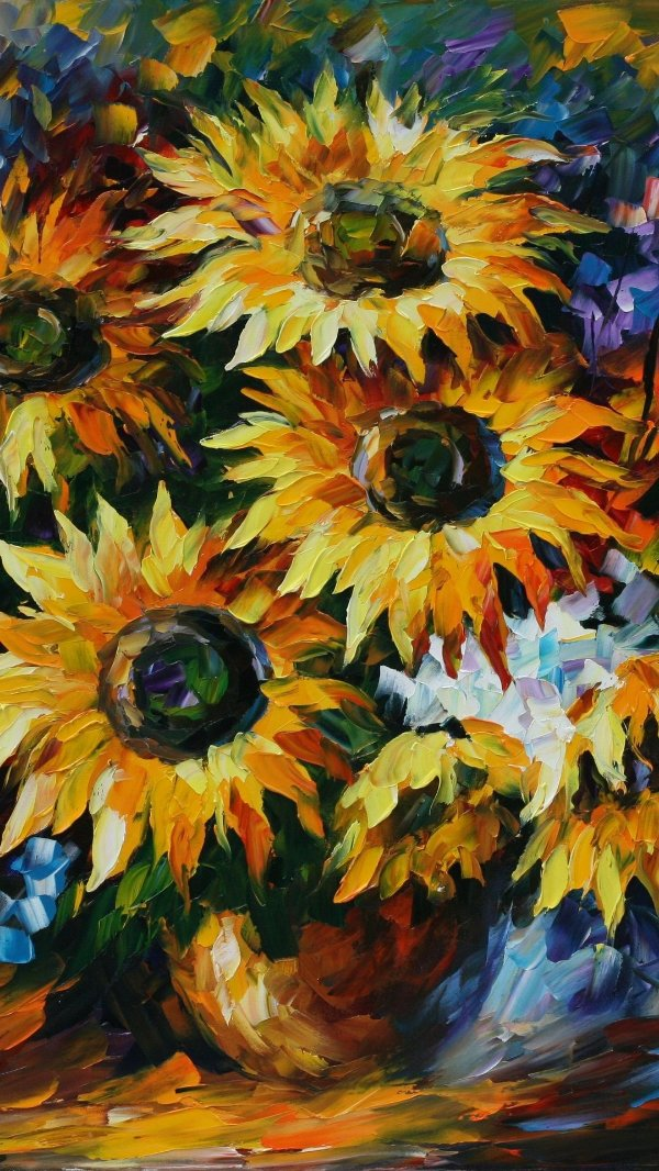 Tela Flor Girassol Pintura