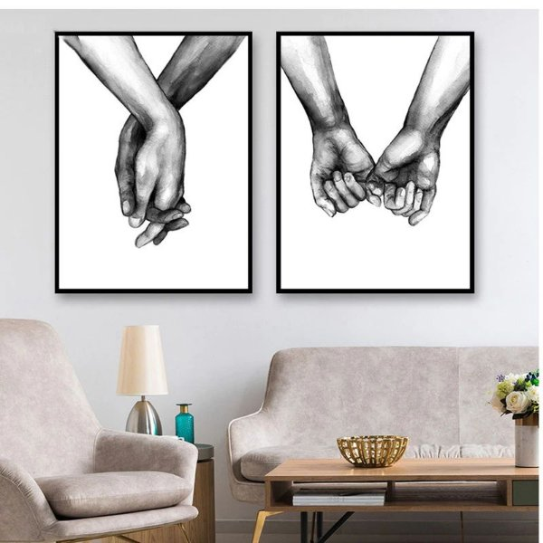 Mãos dadas - 2 Quadros